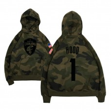 Cleveland Cavaliers #1 Rodney Hood Camo Name & Number Hoodie