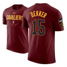 Sam Dekker Cavaliers #15 Maroon Practice Essential T-Shirt