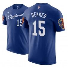 Cleveland Cavaliers #15 Sam Dekker Blue City T-Shirt