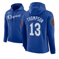 Cleveland Cavaliers #13 Tristan Thompson Blue City Hoodie