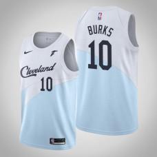 Cleveland Cavaliers #10 Alec Burks Blue Earned Jersey