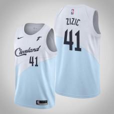 Cleveland Cavaliers #41 Ante Zizic Blue Earned Jersey
