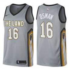Cleveland Cavaliers #16 Cedi Osman Gray City Jersey