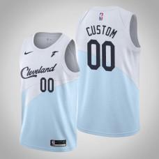 Cleveland Cavaliers #00 Custom Blue Earned Jersey