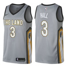 2017-18 George Hill Cavaliers #3 Gray Jersey