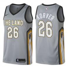 Cleveland Cavaliers #26 Kyle Korver Gray City Jersey