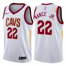 Cleveland Cavaliers #22 Larry Nance Jr. White Association Jersey