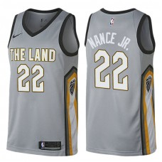 Cleveland Cavaliers #22 Larry Nance Jr. Gray City Jersey