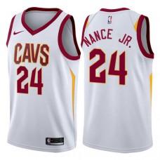 Cleveland Cavaliers #24 Larry Nance Jr. White Association Jersey