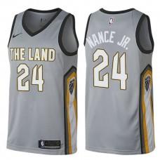Cleveland Cavaliers #24 Larry Nance Jr. Gray City Jersey