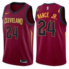 2017-18 Larry Nance Jr. Cavaliers #24 Wine Jersey