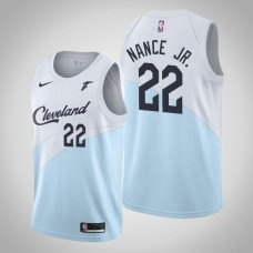 Cleveland Cavaliers #22 Larry Nance Jr. Blue Earned Jersey