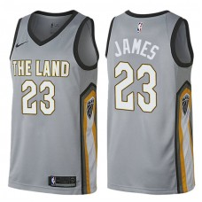 Cleveland Cavaliers #23 LeBron James Gray City Jersey