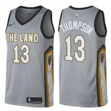 2017-18 Tristan Thompson Cavaliers #13 Gray Jersey