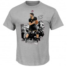 Cavaliers #0 Kevin Love Bigger Prize Gray T-Shirt