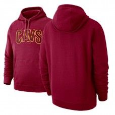 Cavaliers Maroon Courtside French Terry Pullover Hoodie