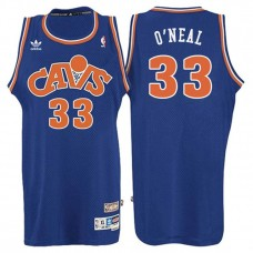 Cleveland Cavaliers #33 Shaquille O'Neal Blue Hardwood Classics Jersey