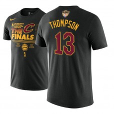 Cleveland Cavaliers #13 Tristan Thompson Black Finals T-Shirt