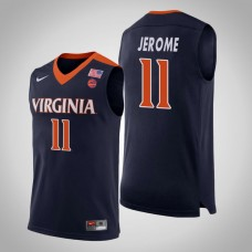 Virginia Cavaliers #11 Ty Jerome Navy College Basketball Jersey