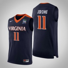 Virginia Cavaliers #11 Ty Jerome Navy 2019 Final-Four Jersey