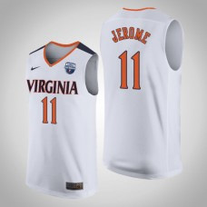 Virginia Cavaliers #11 Ty Jerome White 2019 Basketball Champions Jersey