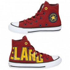 Cavaliers Unisex Hand Painted Team Logo High Top Sneakers
