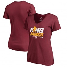 Women's Cavaliers LeBron James Hometown Collection King James T-Shirt