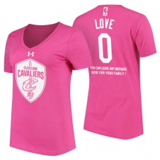 Women's Cleveland Cavaliers #0 Kevin Love Mother's Day T-Shirt