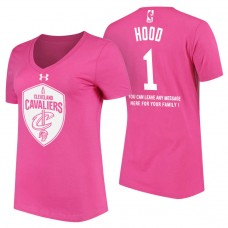 Women's Cleveland Cavaliers #1 Rodney Hood Pink Mother's Day T-Shirt