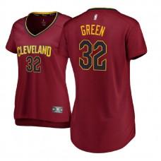 Women's Cleveland Cavaliers #32 Jeff Green Maroon Icon Jersey