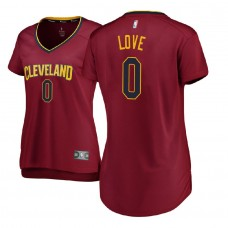 Women's Cleveland Cavaliers #0 Kevin Love Icon Jersey