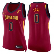 Women's Cleveland Cavaliers #0 Kevin Love Wine Icon Jersey