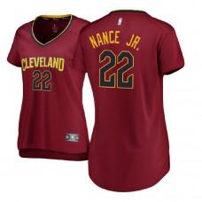 Women's Cleveland Cavaliers #22 Larry Nance Jr. Maroon Icon Jersey