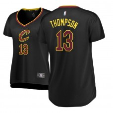 Women's Cleveland Cavaliers #13 Tristan Thompson Black Statement Jersey