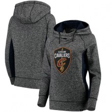 Women's Cavaliers Charcoal Navy Static Pullover Hoodie