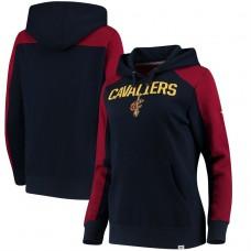 Women's Cavaliers Navy Wine Iconic Pullover Hoodie