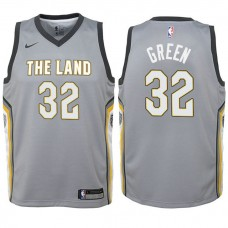 Youth Jeff Green Cavaliers City Edition Gray Swingman Jersey
