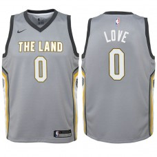 Youth Cleveland Cavaliers #0 Kevin Love Gray City Jersey