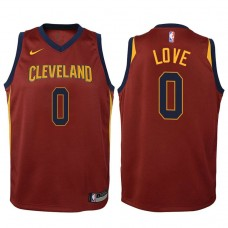 Youth Cleveland Cavaliers #0 Kevin Love Maroon Icon Jersey