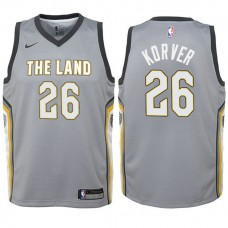 Youth Cleveland Cavaliers #26 Kyle Korver Gray City Jersey