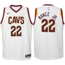 Youth Cleveland Cavaliers #22 Larry Nance Jr. White Association Jersey