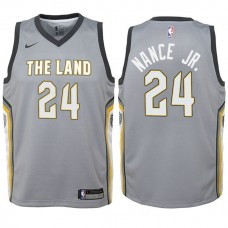 Youth Larry Nance Jr. Cavaliers City Edition Gray Swingman Jersey
