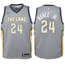 Youth Larry Nance Jr. Cavaliers City Edition Gray Swingman Jersey