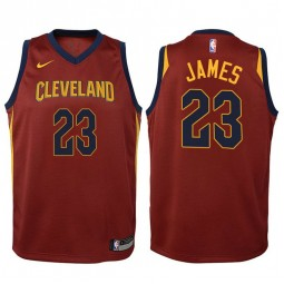 Youth LeBron James Cavaliers Icon Maroon Swingman Jersey
