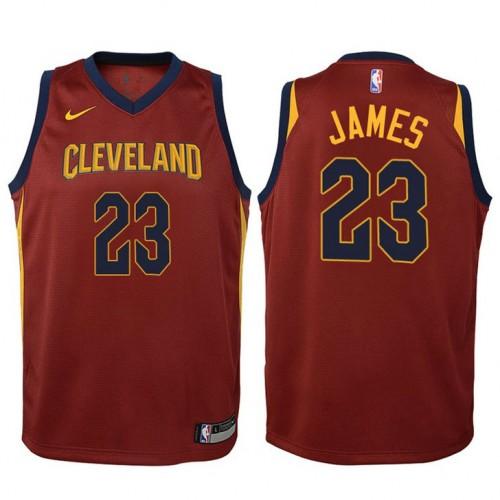 Youth LeBron James Cavaliers Icon Maroon Swingman Jersey