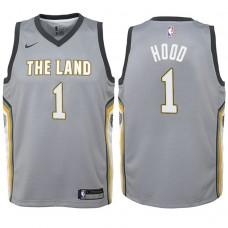 Youth Cleveland Cavaliers #1 Rodney Hood Gray City Jersey