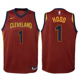 Youth Rodney Hood Cavaliers Icon Wine Swingman Jersey
