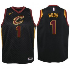 Youth Cleveland Cavaliers #1 Rodney Hood Black Statement Jersey