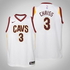 Youth Cleveland Cavaliers #3 Marquese Chriss White Association Jersey