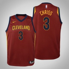 Youth Cleveland Cavaliers #3 Marquese Chriss Maroon Icon Jersey